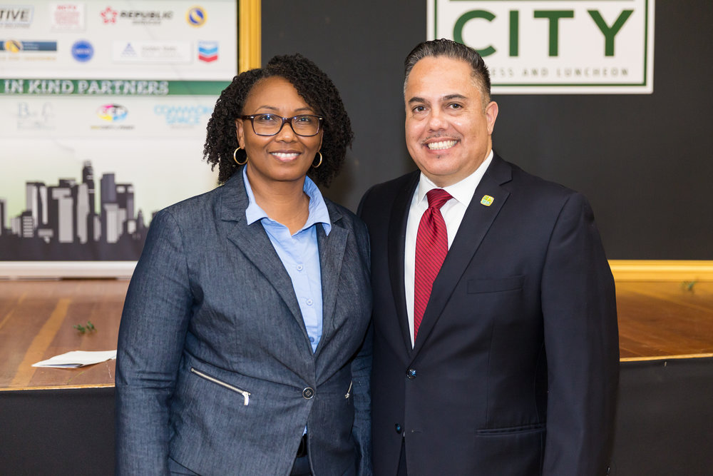Mayor Vargas with Brenda Willisams