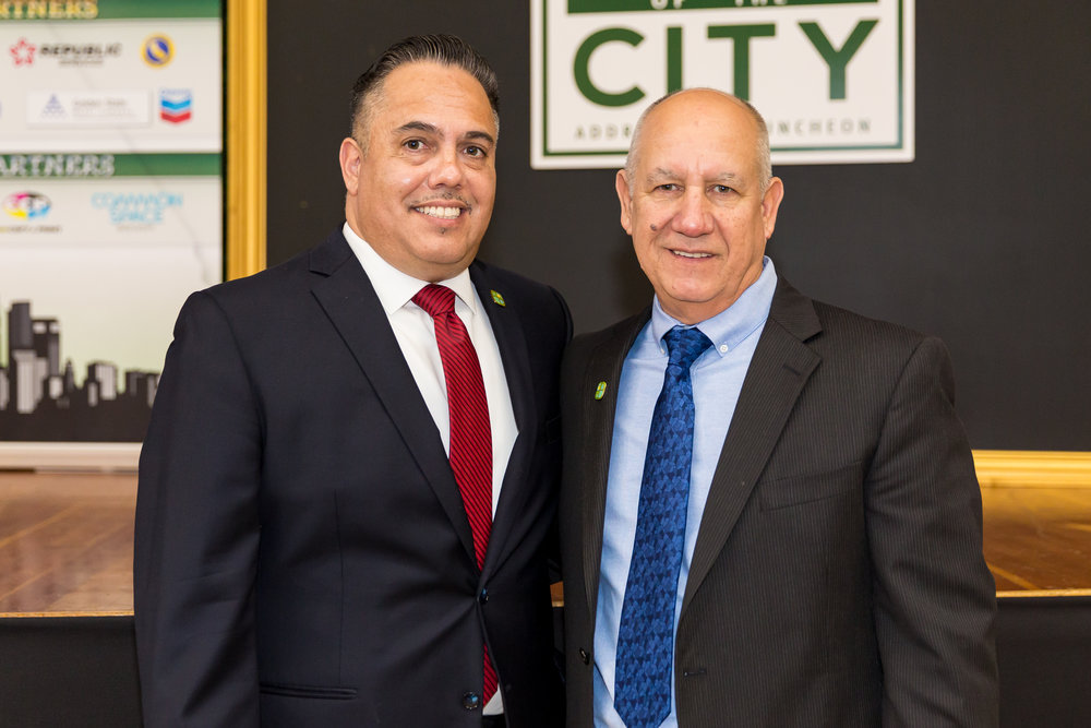 Mayor Vargas with Council Member Mike Talleda