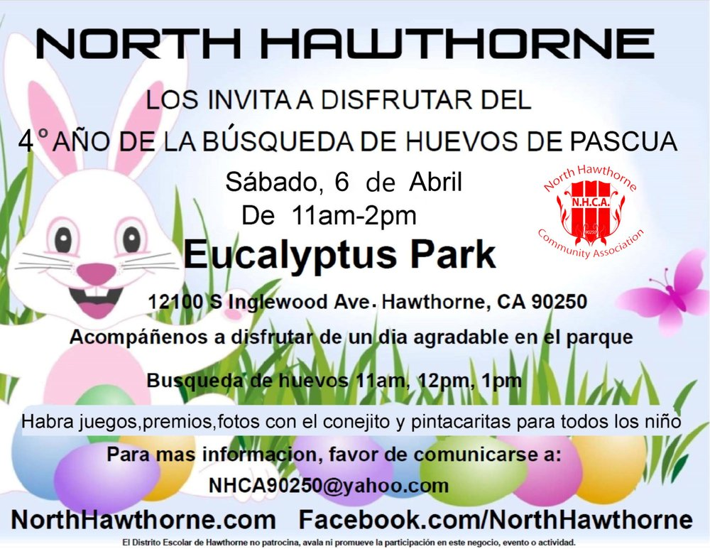 North Hollywood Community Association 4th Annual Easter Egg Hunt - Spanish