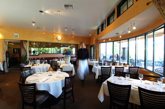 Ponti Main dining room with views of Fremont