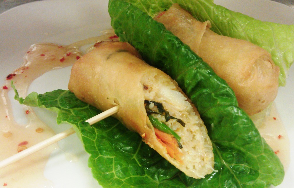 Dungeness Crab Spring Rolls