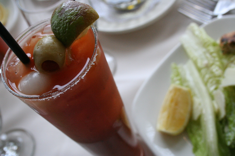 Bloody Mary and Caesar Salad