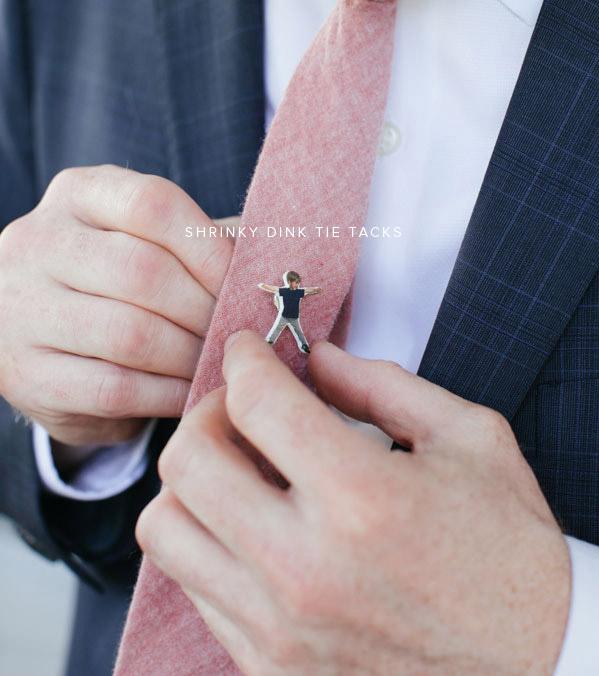 Shrinky Dink Tie Tack