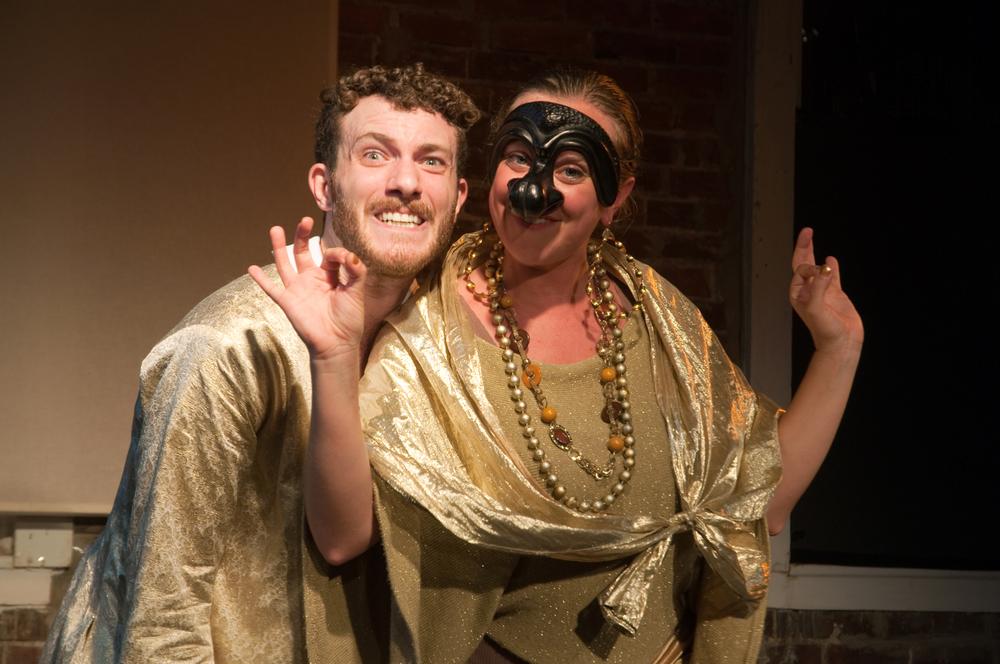 Allegra Libonati as Dottore and Liam Mulshine as Fabrizio in Love Letter Lost. Photo by Zach Kronisch.