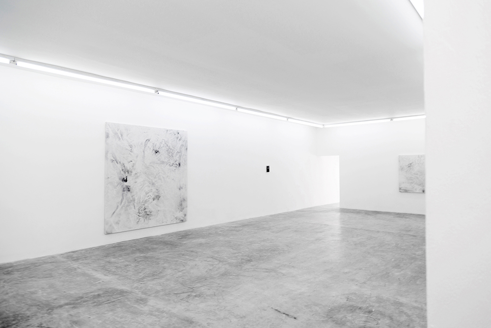 Dirt Painting #1, Dirt Painting #6,  &  Dirt Painting #4,  2015 & 2016  Installation shot for  The Hand With The Whip Pointed To The South  at FIFI Projects, San Pedro, Mexico