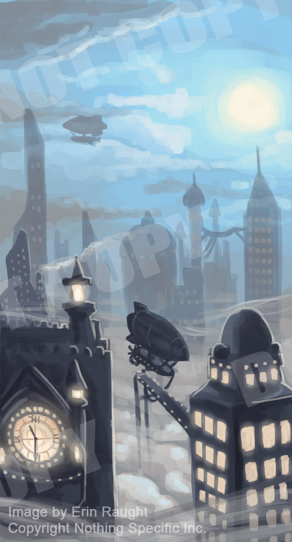 7168 - Steampunk City - Steam Airship Dirigible Zeppelin.jpg