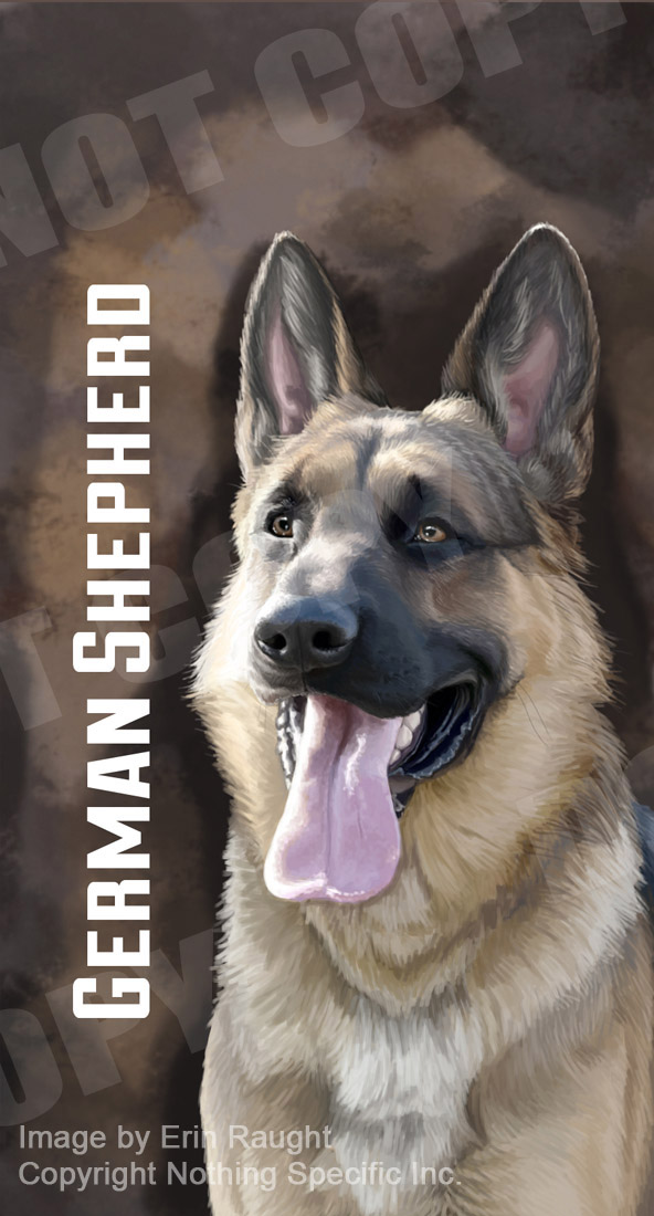 7170 - German Shepherd - GSD Dog Pet Brown Background.jpg