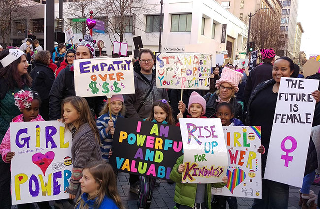 Seattle Women's March,  c/o Edith B. and A Mighty Girl