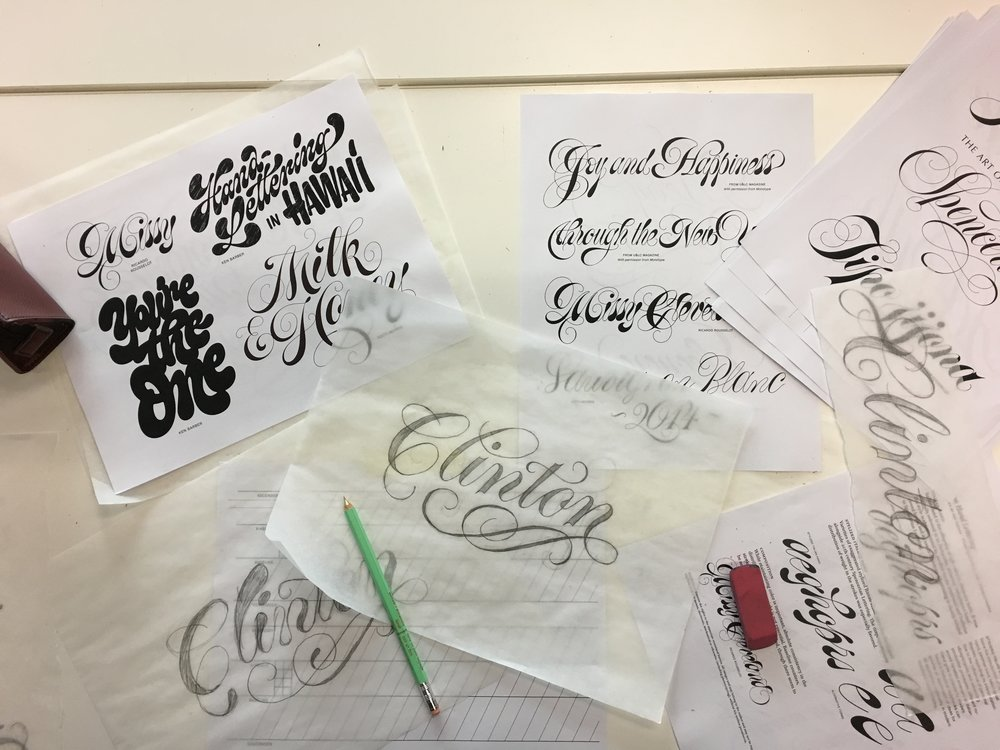 Some lettering examples