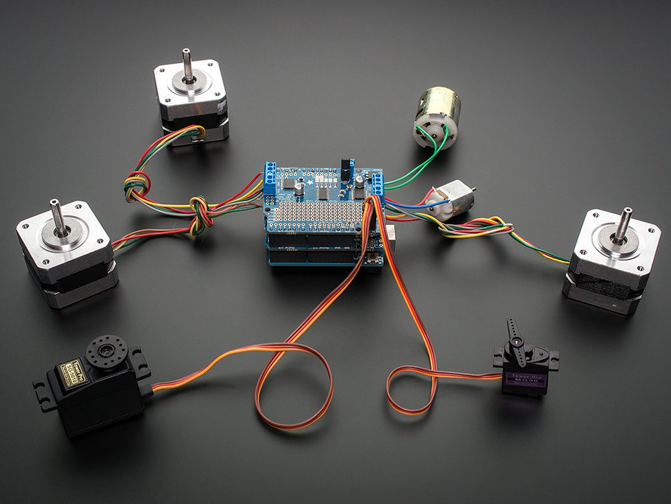 Adafruit Motor/Stepper/Servo Shield for Arduino