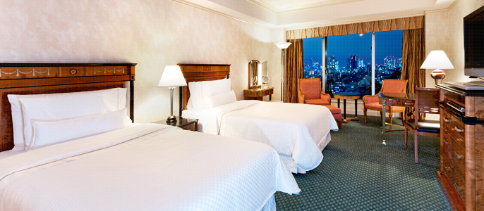 ウェスティンホテル東京 デラックスルーム(http://www.westin-tokyo.co.jp/stay/room/deluxe-east-view/index.html)