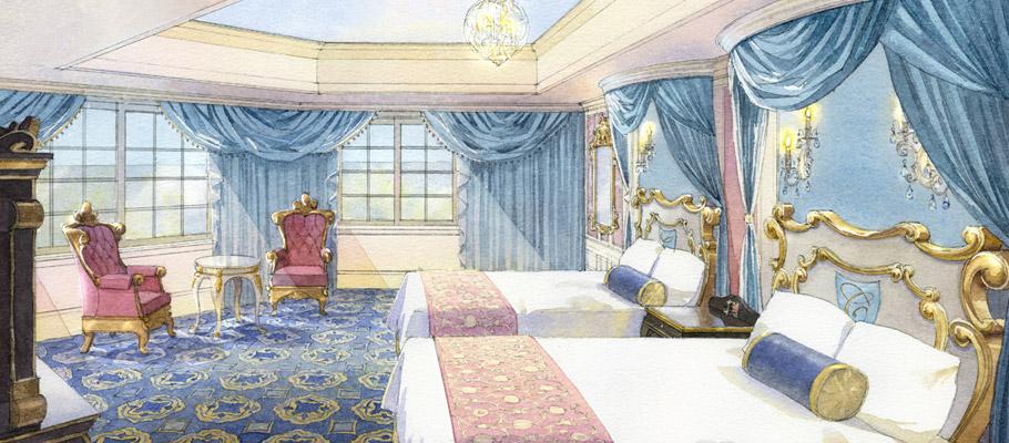 ディズニーランドホテル(http://www.disneyhotels.jp/tdh/room/chara_cinderella_2.html)