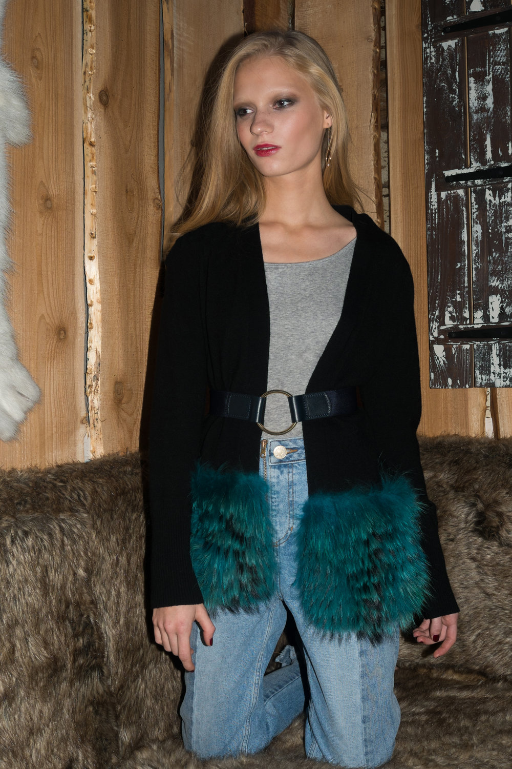 Black Cardigan with Turquoise Trim.jpg