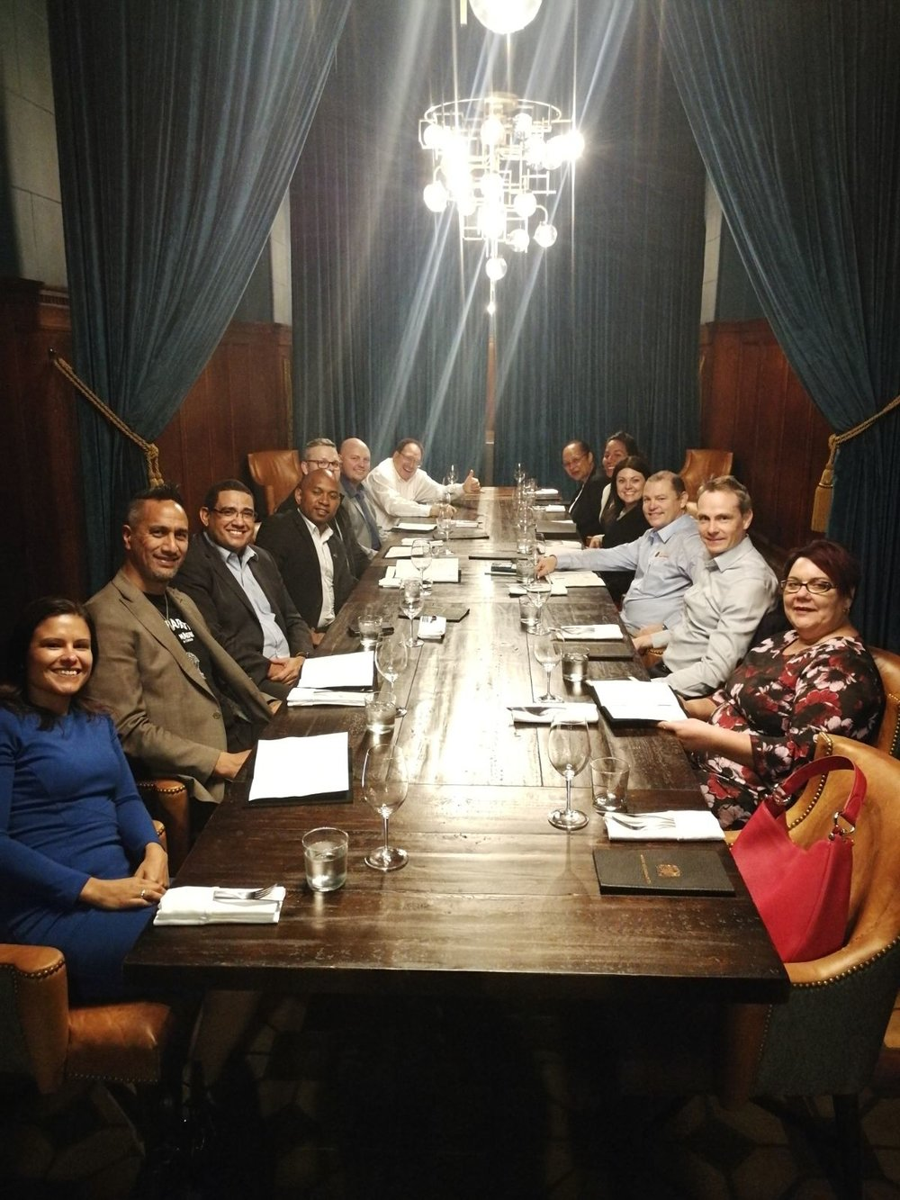 Supply Nation delegation enjoying a meal