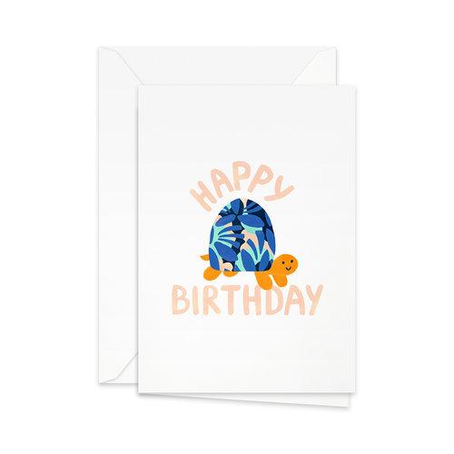 Greeting Card Happy Birthday Turtle Pretty Paper
