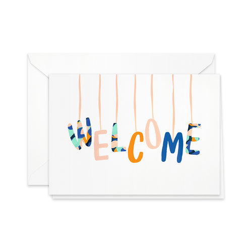 Greeting card welcome baby mobile pretty paper greeting card welcome baby mobile m4hsunfo