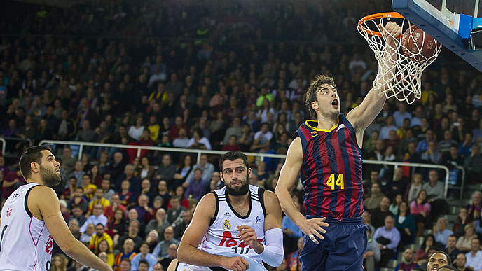 Ante Tomic scored 12 points in showdown between Barca and Real.