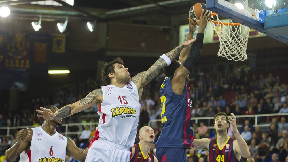 Barcelona couldn't stop Printezis, who was the key player in Olympiacos victory.