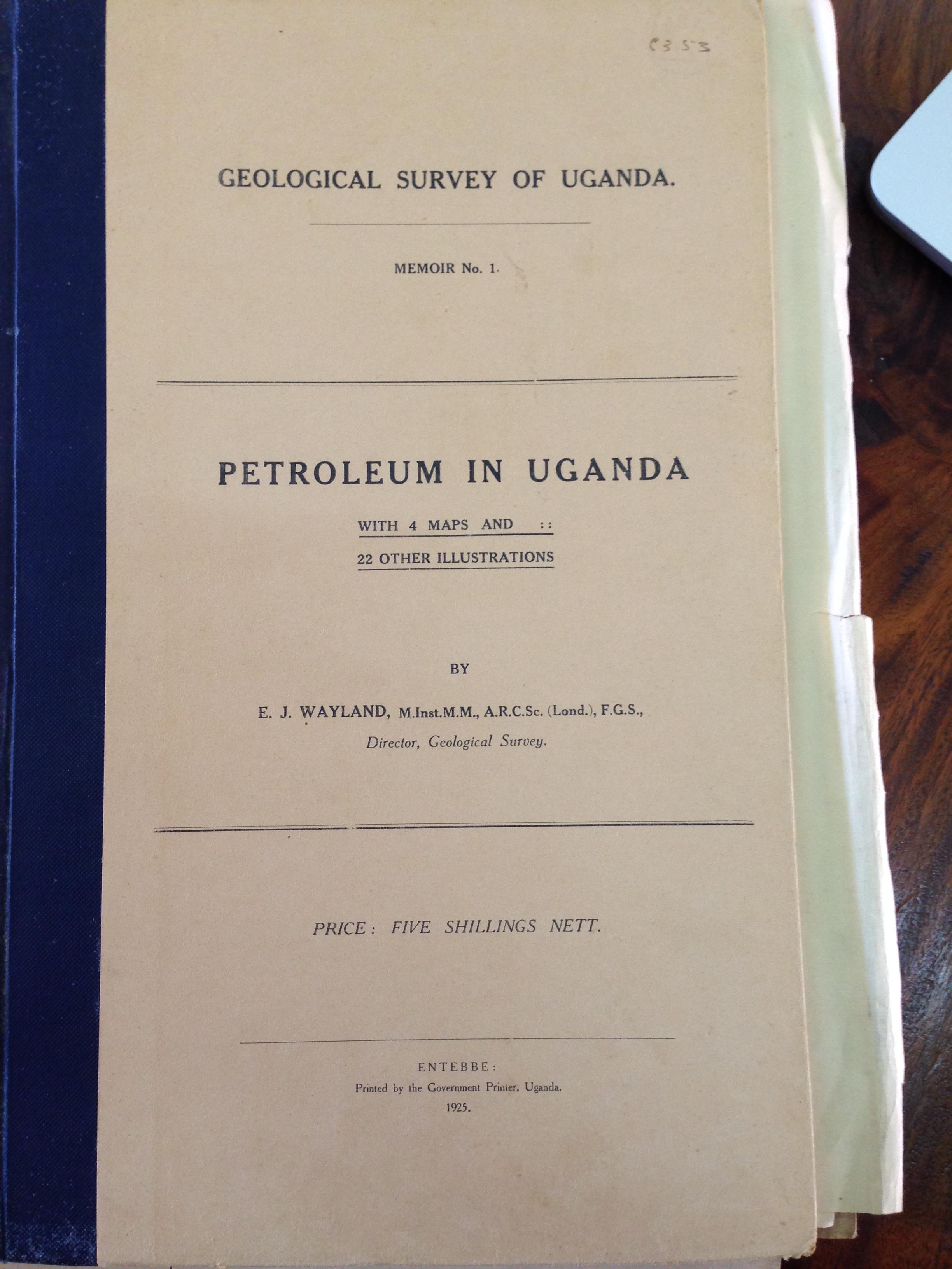 Front. Petroleum in Uganda