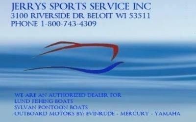 Jerrys Sports Service - Beloit, WI 1-800-743-4309  www.jerrysboats.com