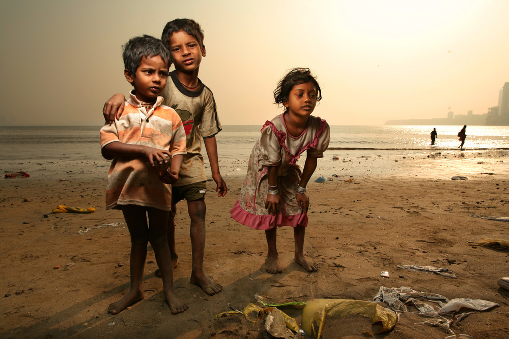 Mumbai Beach Children