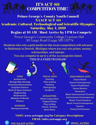 2019 Competition - May 4, 2019 — Prince George's County