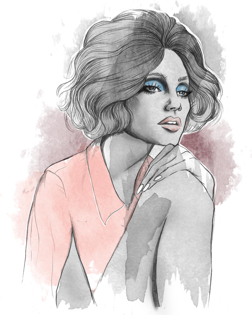 Inspired by Jessica Stam in W Magazine