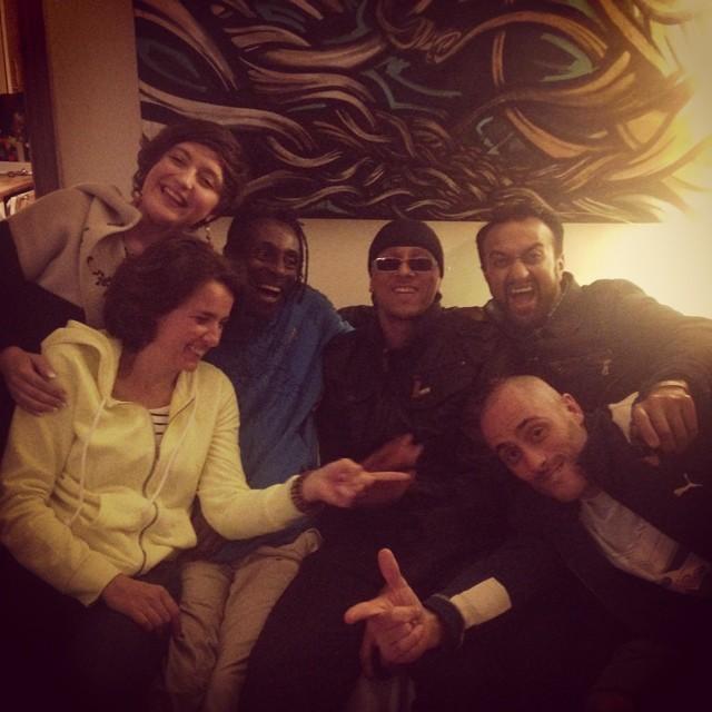 Photo by Kate Belle-Fortune. Слева направо: Anna Sapegina, Nadine Gahr, Brian Belle-Fortune, Navigator, Benefit Beats, James Burns