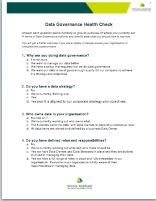 Data Governance Health Check
