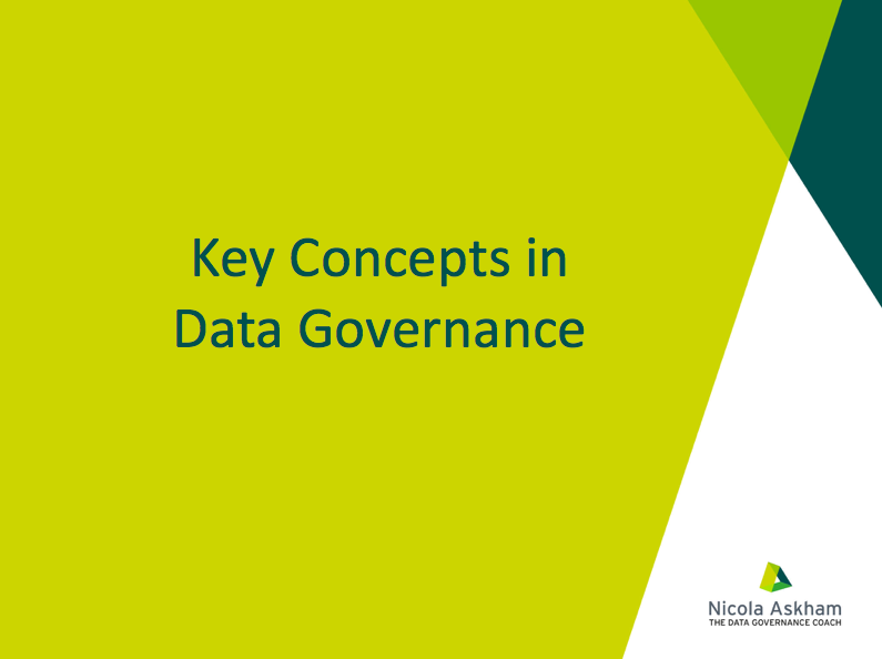 Key Concepts in Data Governance