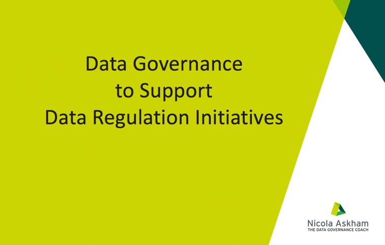 Data Governance for GDPR