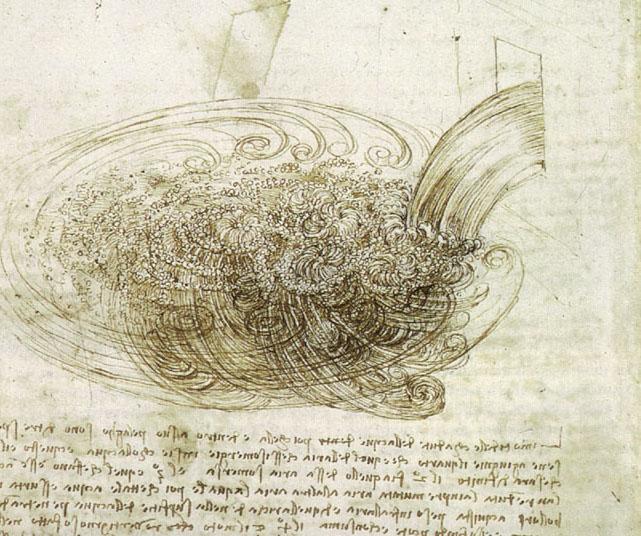 Leonardo DaVinci Studies of Water