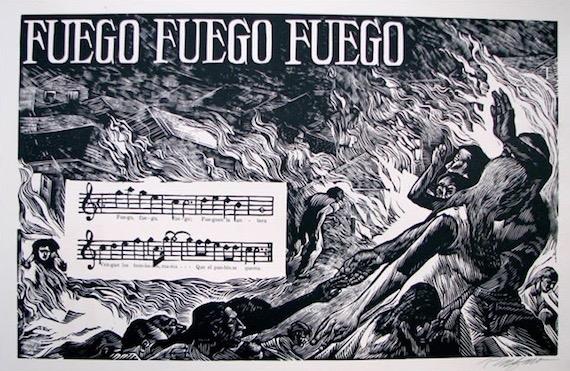 Rafael Tufiño.Fuego, Fuego, FuegoPortafolio de Plena, 1953-1954