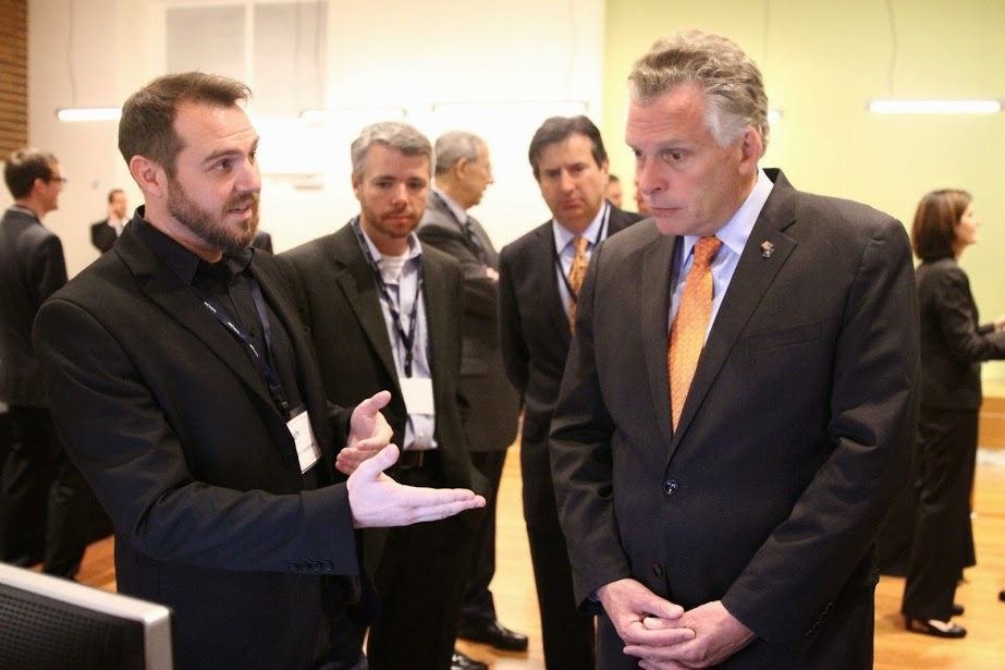 Hugh Brooks introduces AXON Ghost Sentinel to VA Governor McAuliffe