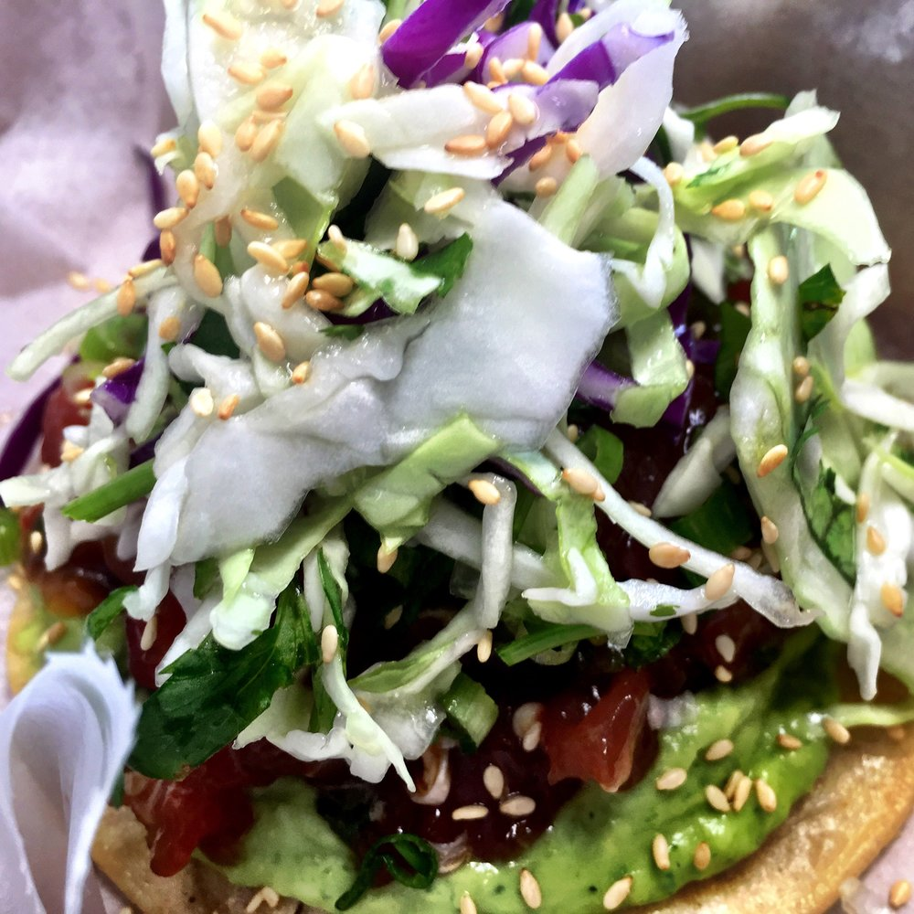 The Ahi Tuna Tostada!