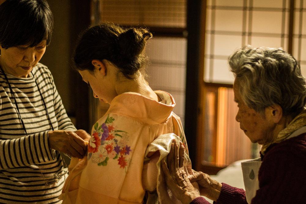 Takako-san, a la izquierda.