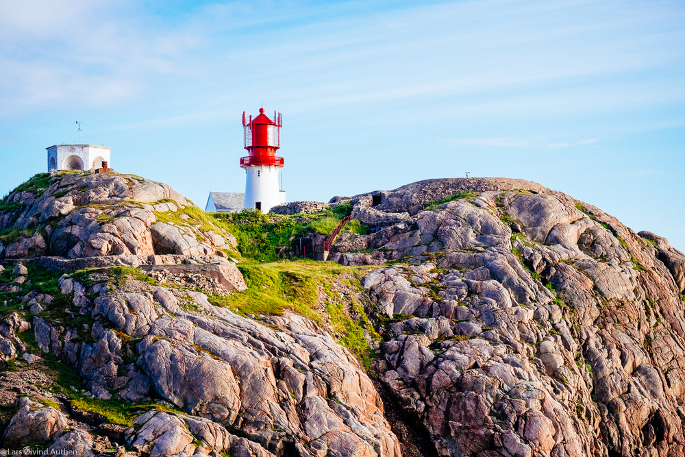 Lindesnes lighthouse, early evening. Fujifilm X-T1 + XF 56mm f/1.2R @ ISO 200, f/8, 1/200 sec.