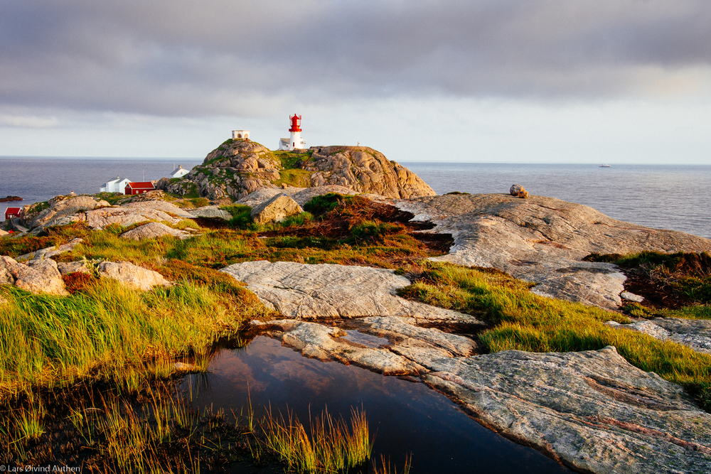 Lindesnes Lighthouse, southernmost place on mainland Norway. Taken with Sony a6000 with Metabones EF-E IV adapter and Canon EF-S 10-22mm f/3.5-4.5 USM. This is at 22mm focal lenght, ISO 100, f/16, 1/6 second exposure. On a Benro tripod.