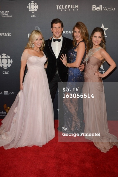 Jody of the Real Housewives of Vancouver wearing a soft pink Something Blue Vancouver gown at the Canadian Screen Actor's Guild Awards