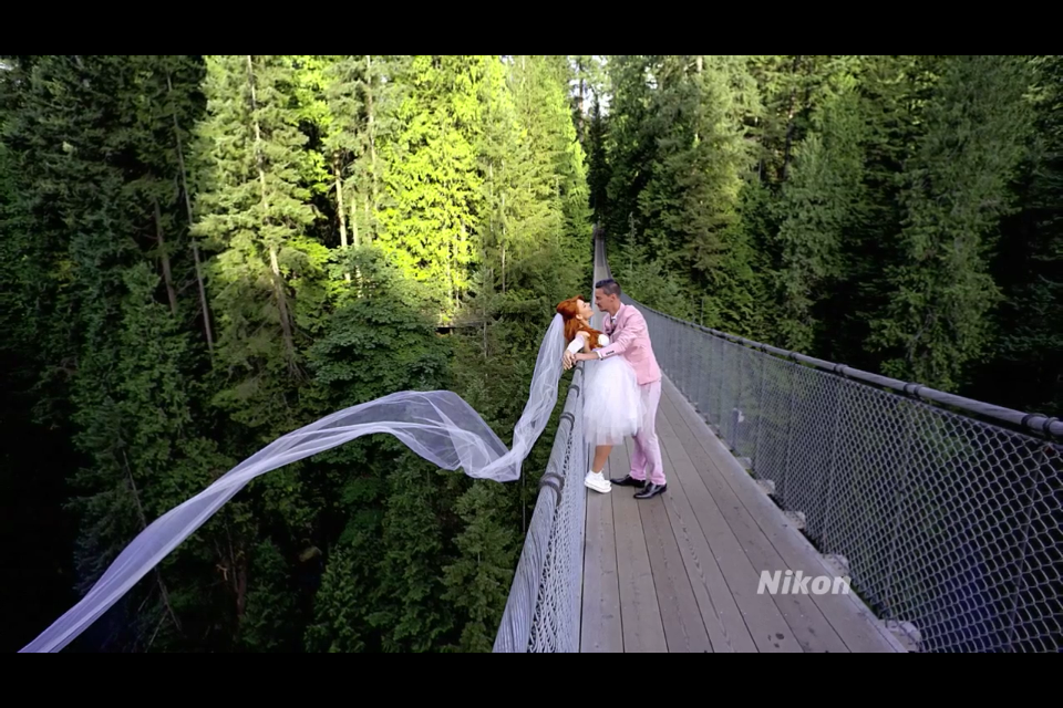 A fun custom gown for Nikon USA. See the whole commercial  here
