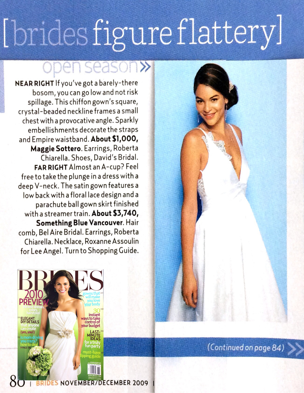 Livia gown in Brides magazine
