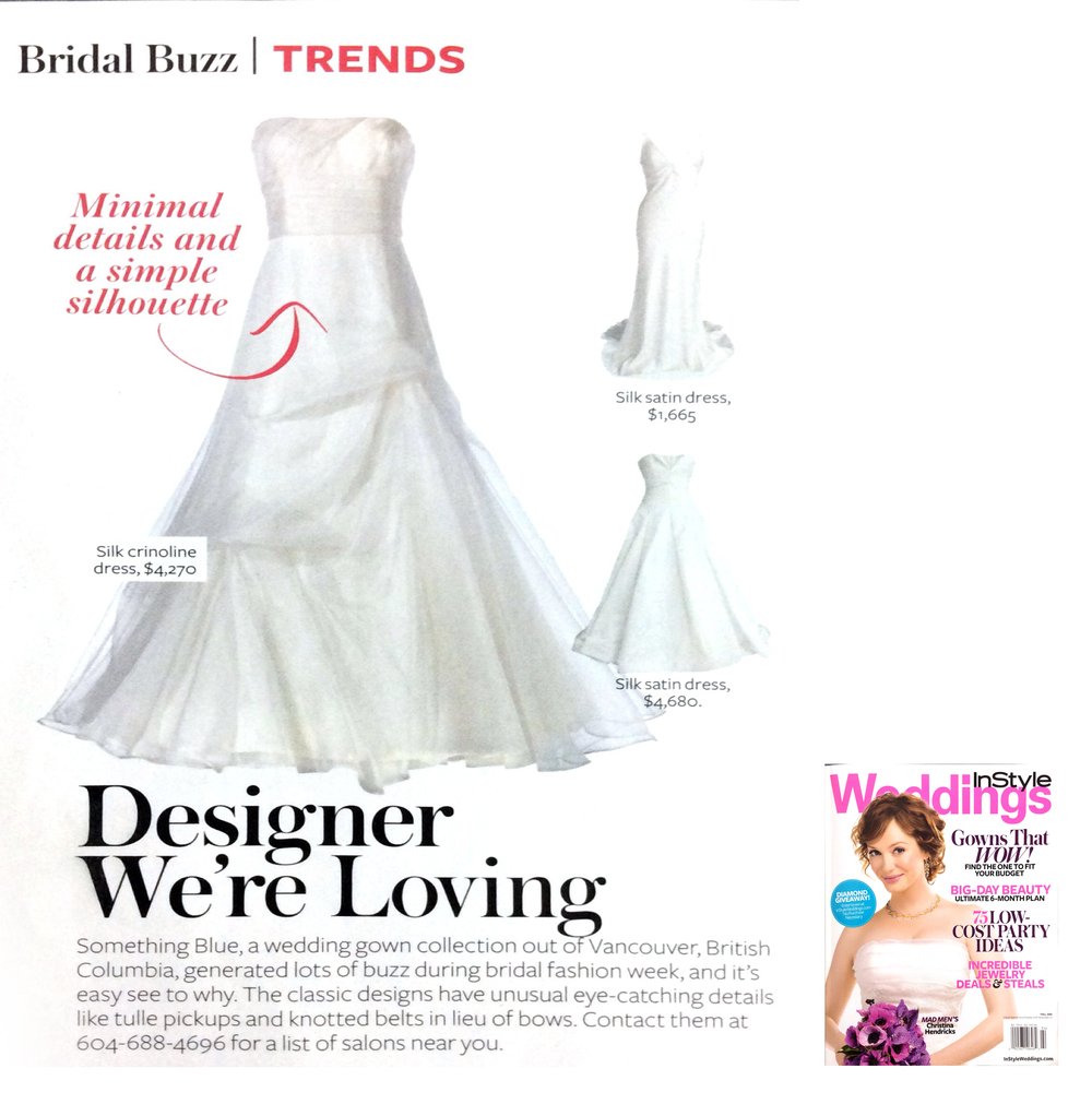 Designer profile on Something Blue Vancouver in InStyle Weddings
