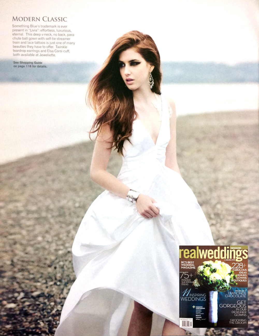 Livia gown featured in Real Weddings magazine