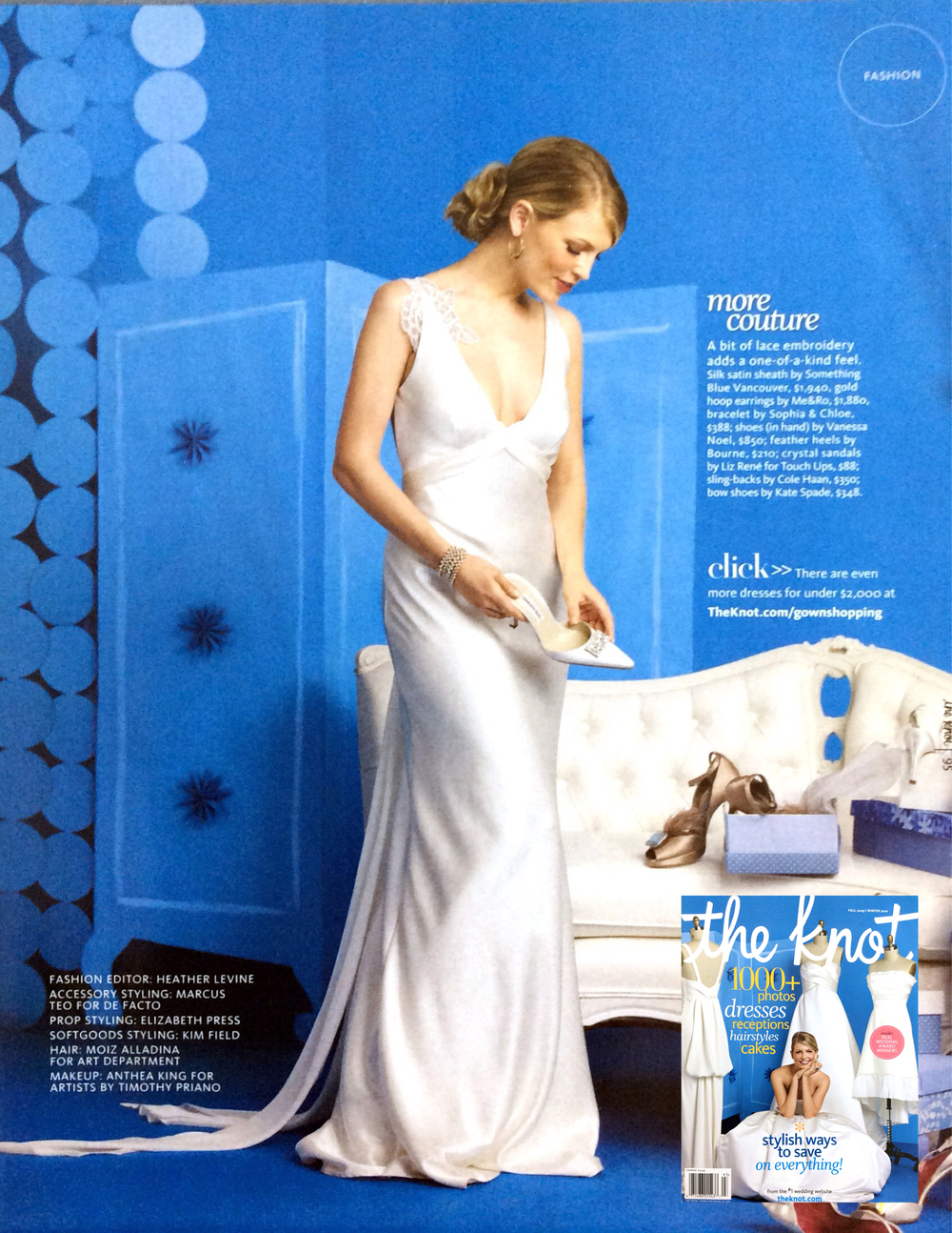 Escape gown in The Knot magazine