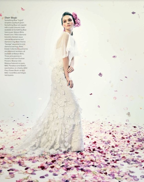 Ingrid gown in Real Weddings Spring/Summer 2014