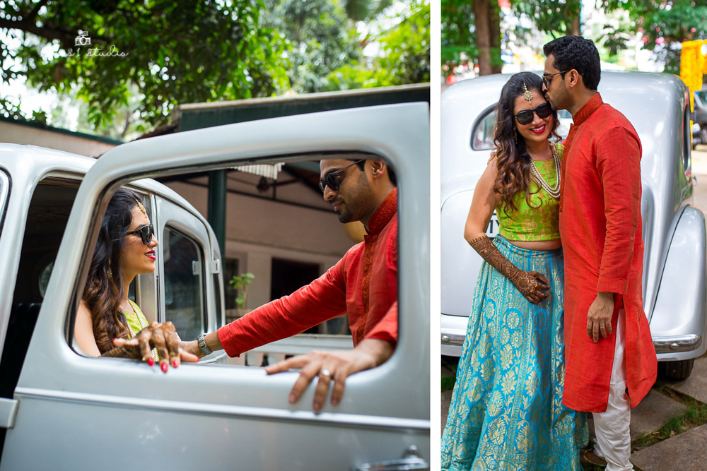 Vintage Car Couple Shoot | Bangalore Wedding Photographer-4.jpg