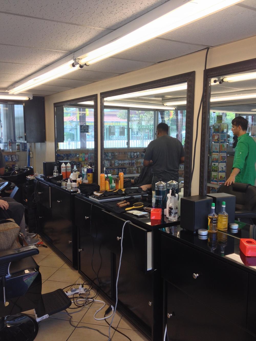 70's Barbershop Before 2