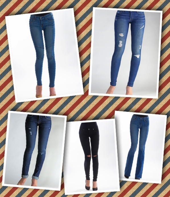 Some of our favorite jeans that we'll be wearing to celebrate the 4th of July!