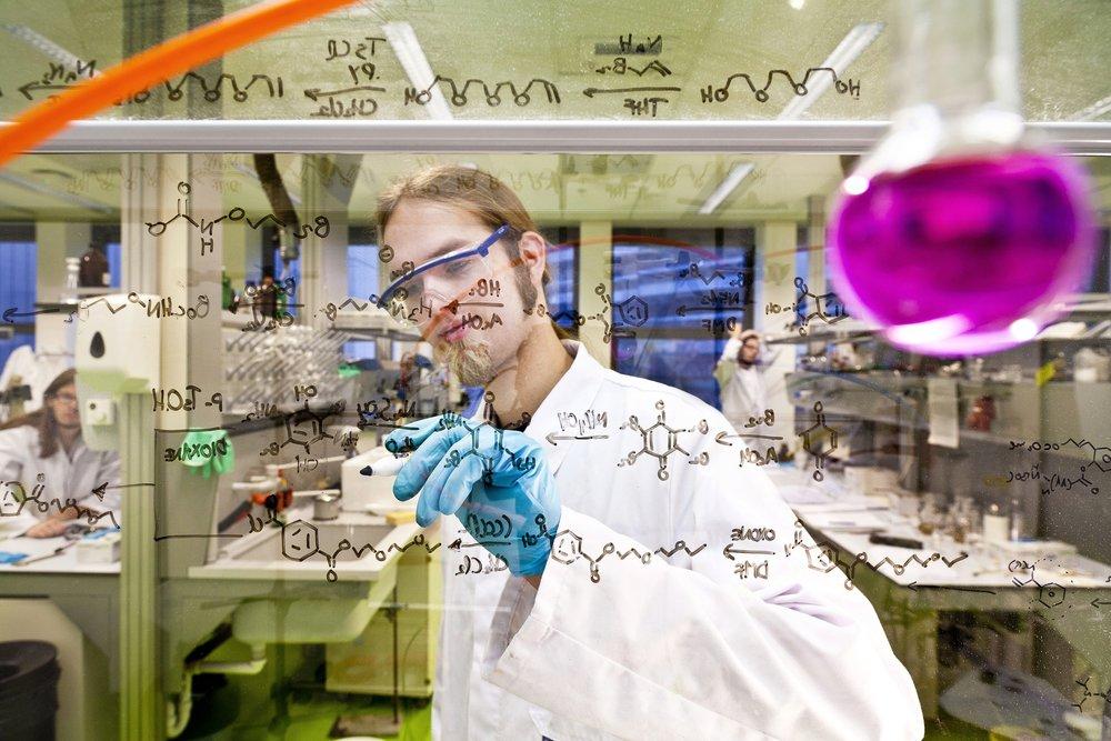 Scheikundig lab UvA. ©Jorn van Eck