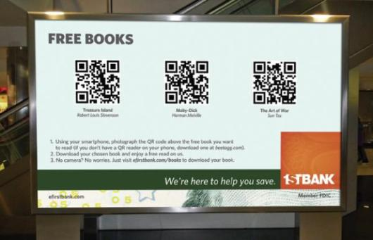 Enhance Stadium Concourse Signage with QR Code Giveaways